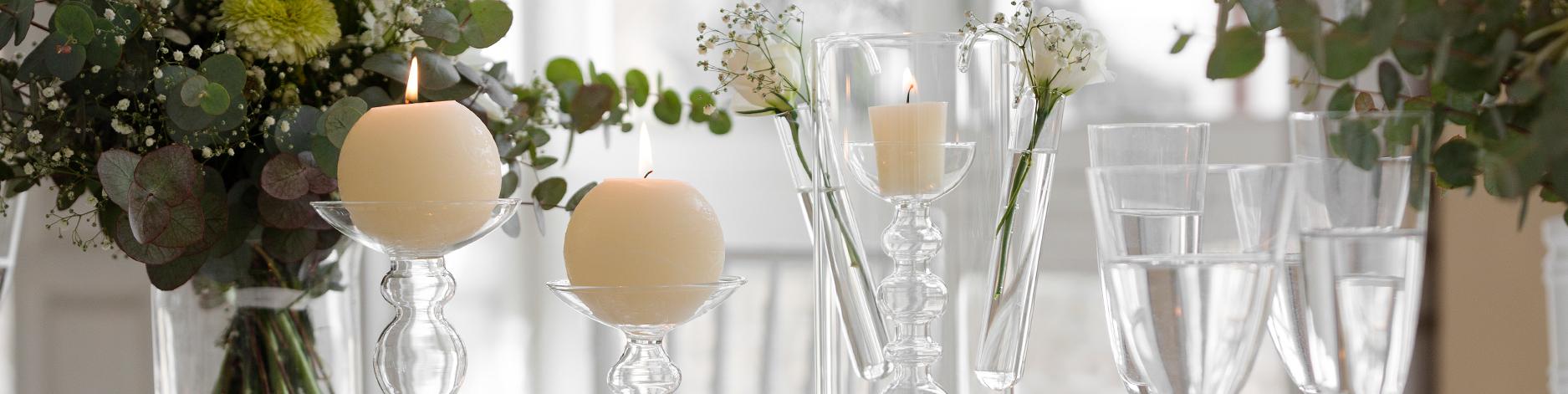 Portavelas de cristal candelabros de vidrio decoragloba - Portavelas cristal ...