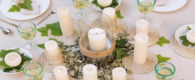 Velas para bodas ideas para decorar bodas con velas for Decoracion navidena centro de estetica