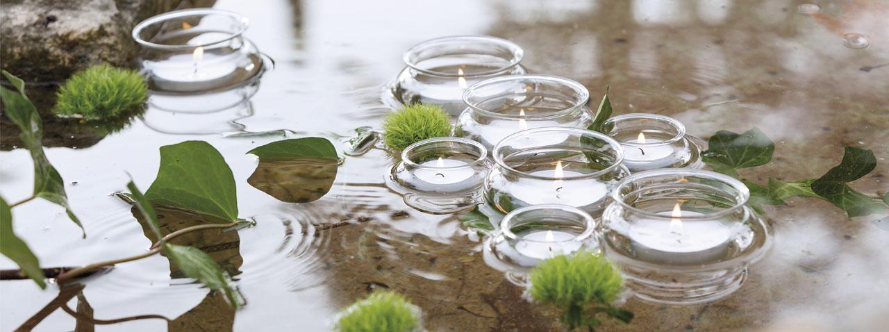 Velas para piscinas y estanques decoragloba - Velas para piscinas ...