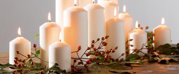 Velas para bodas de decoragloba en mas a virgen de aguas vivas - Adornos navidenos con velas ...