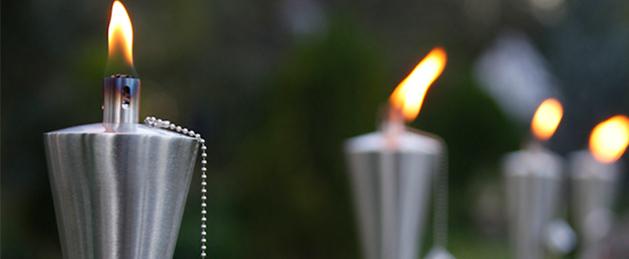 velas para jardn iluminar el entorno natural