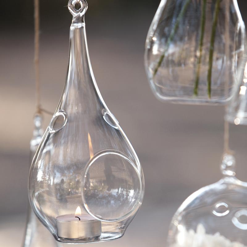 Portavelas de cristal gota de agua portavelas de vidrio - Portavelas cristal ...