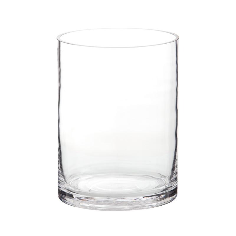 Portavelas de cristal cilindrico portavelas de vidrio - Portavelas cristal ...