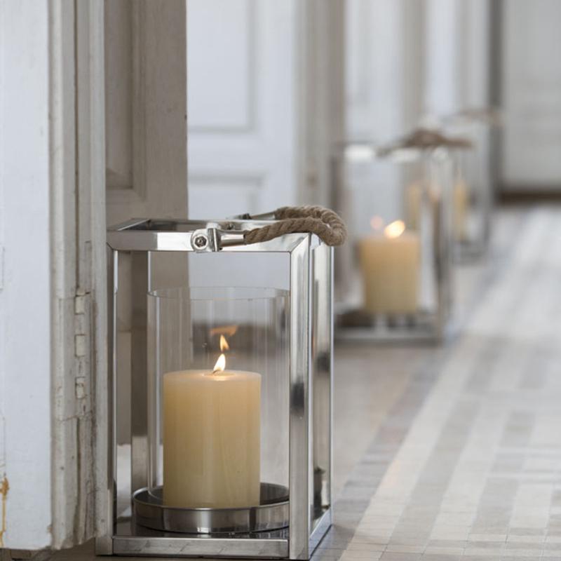 Farol rectangular para velas faroles para vela para for Faroles para exterior precios
