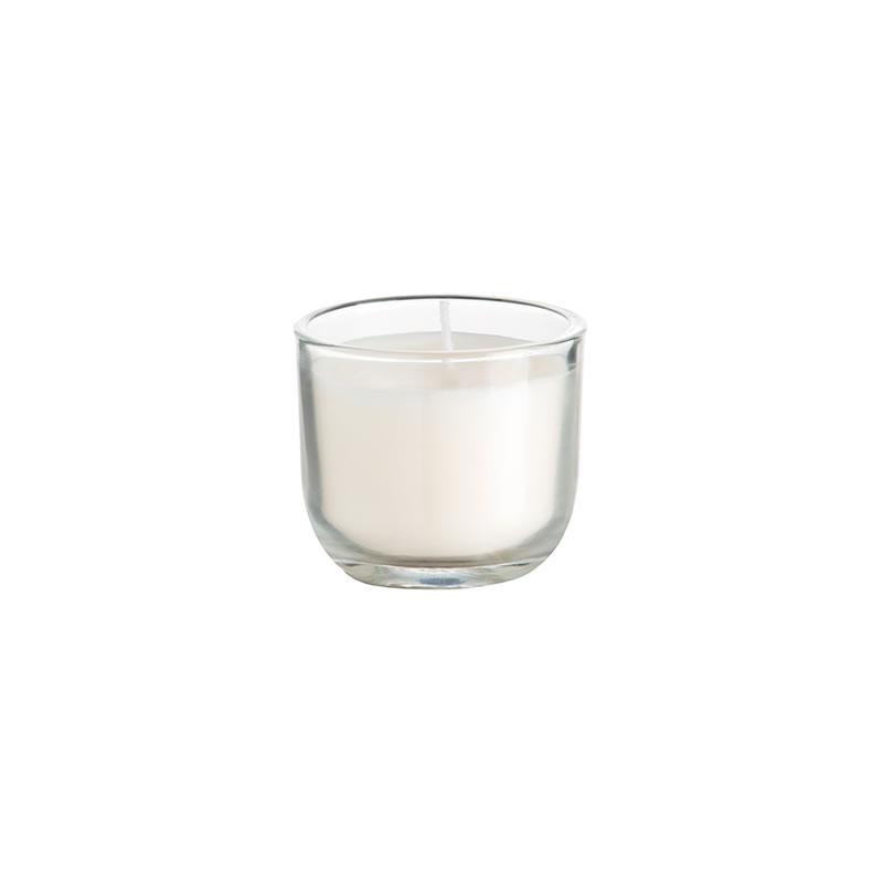 Velas De Cristal En Vaso Decoragloba